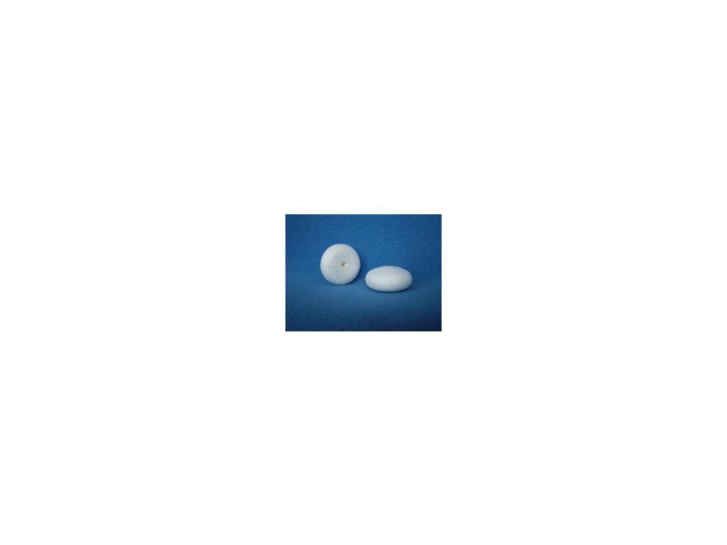 Hlava mochomůrky vatová bílá 44x18 mm (30 ks)