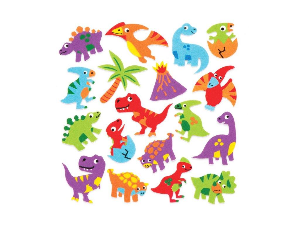 Pěnové samolepky Dinosauři (120 ks) nové