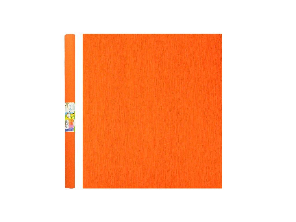 krepovy papir oranzovy