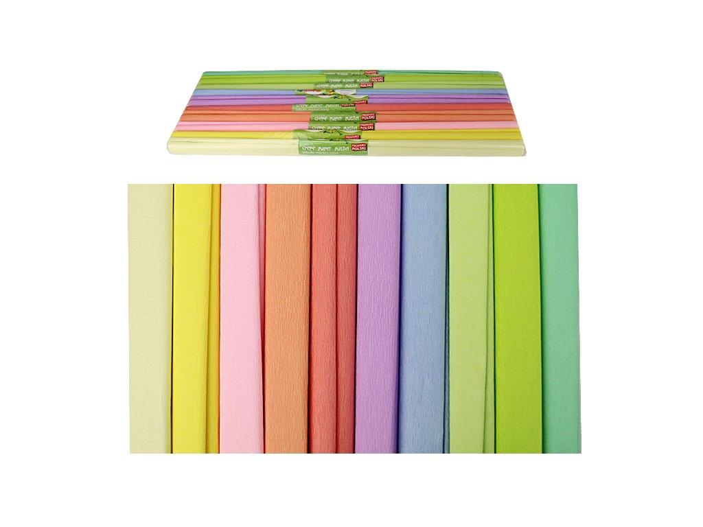 krepovy papir pastelovy