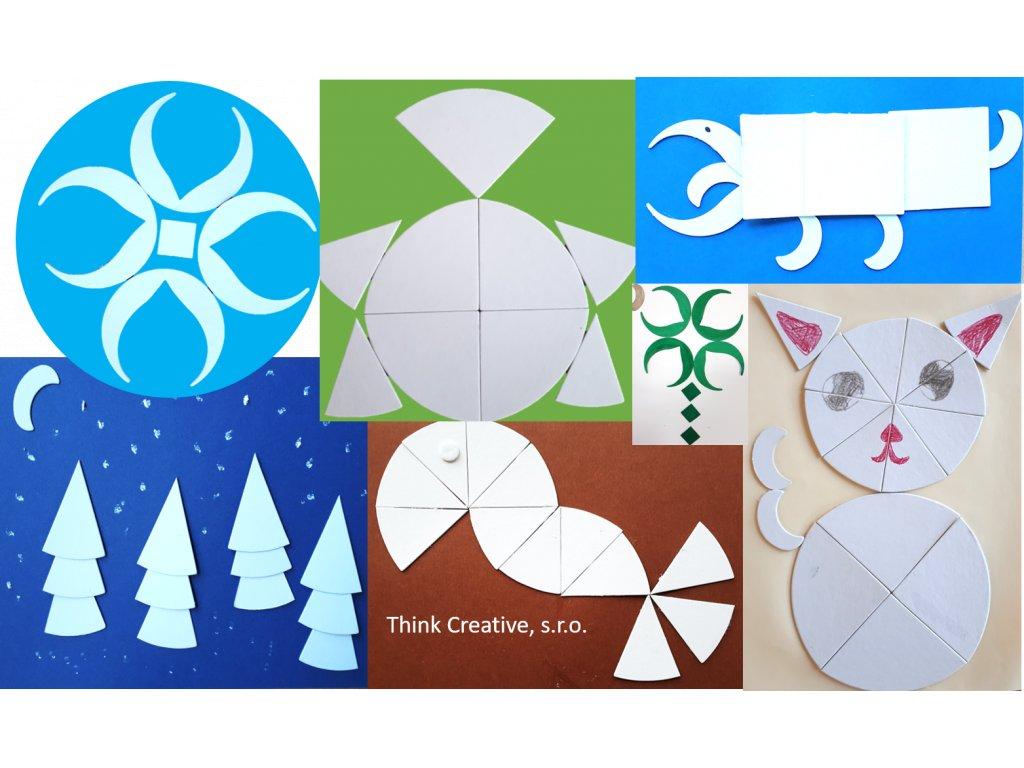 Mozaika kartonových tvarů - 0,5 kg