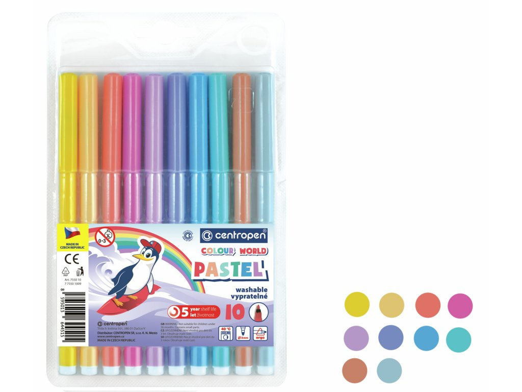 fixy centropen pastel 10ks