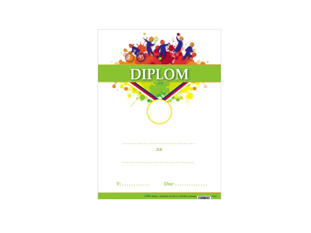 Diplom A4 - SPORT, s textem
