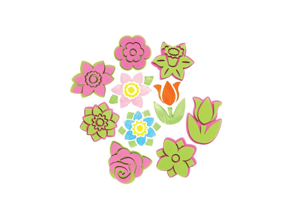 Květiny razitka