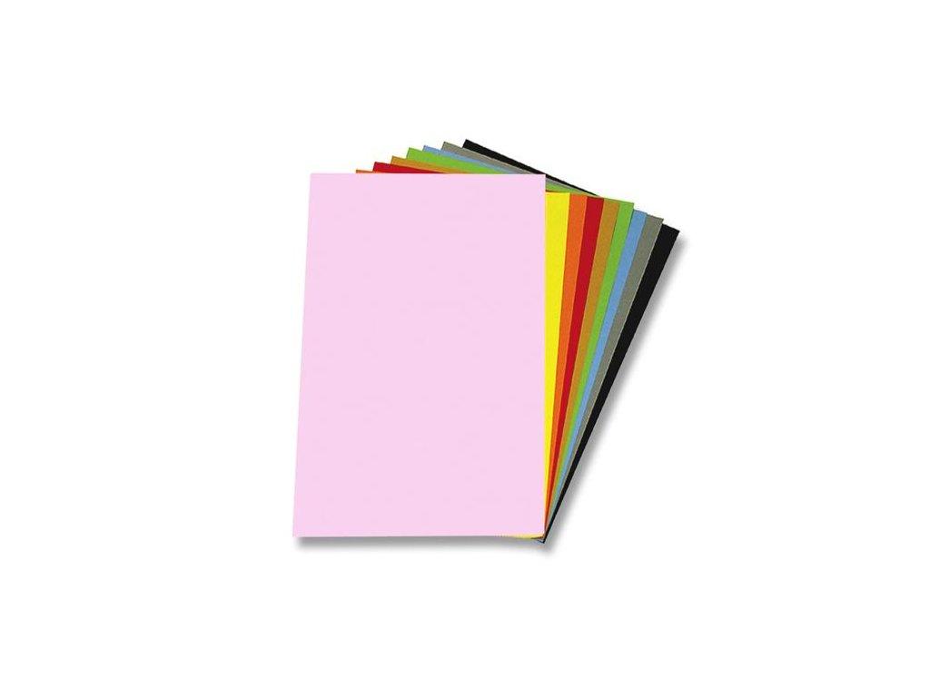 Kreslící karton barevný A4/225g mix 50 ks