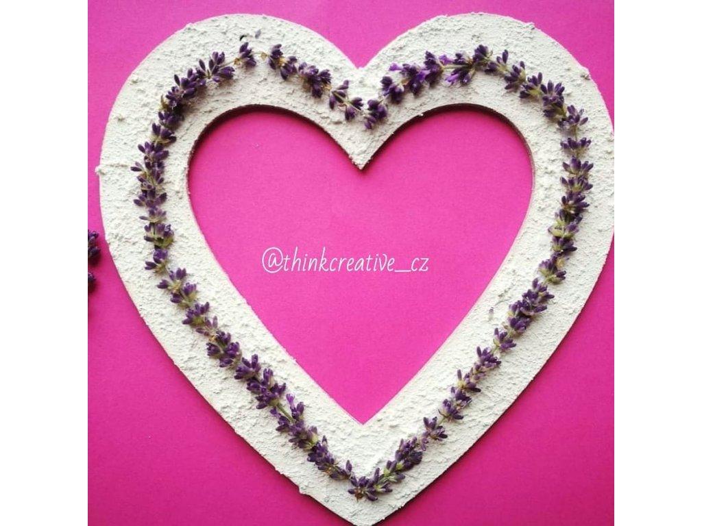 Srdce velké závěs (23 cm) - dřevěný výřez