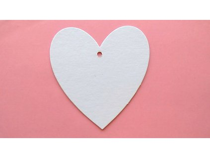 Srdíčko s dírkou - kartonový výřez
