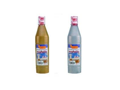 Tekuté temperové barvy JOVI v lahvi - 500 ml / stříbrná