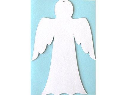 Anděl šablona (34 cm) - 1 ks - kartonový výřez