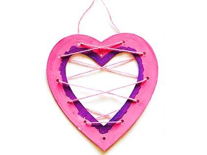 Srdíčko prošívací ( 19 cm) - kartonový výřez
