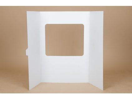 Projektová tabule s výřezem, velikost tabule 120 x 90 cm, hnědo-bílá (vhodná pro tvorbu divadla a obchodu)