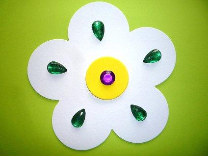 Květina velká (19 cm) - šablona - 1 ks - kartonový výřez