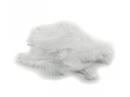 Peří 10 g bílé
