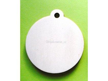 Medaile bez nápisu ( 7cm) - dřevěný výřez