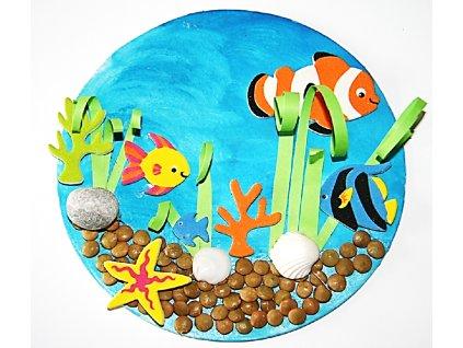 Kruh plný s dírkou (13 cm) - kartonový výřez
