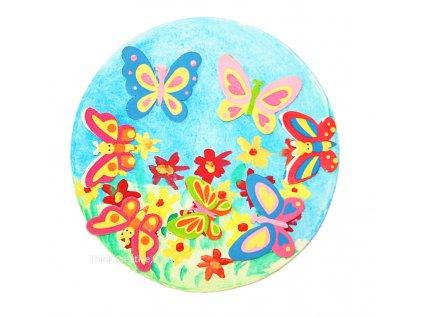 Kruh s motýlky