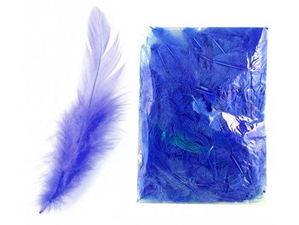 peří tmavě modré
