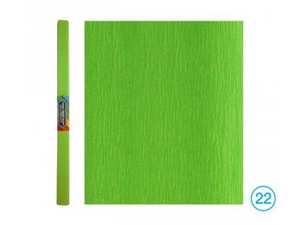 krepový papír zelený