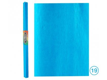 krepový papír modrý