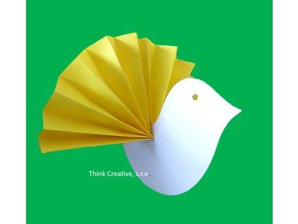 Ptáček k dotvoření kartonový výřez Think Creative