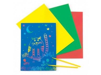Kartičky vyškrabávací barevné