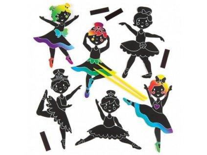 Tanečnice vyškrabávací Think Creative