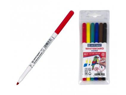 Popisovač CENTROPEN - Whiteboard marker 2507/6 set