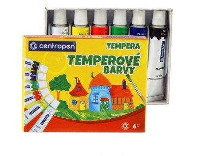 Barvy temperové CENTROPEN 6 barev 12ml - 9550