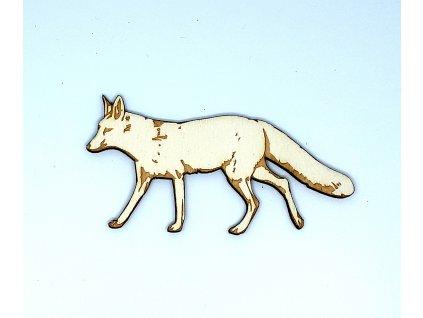 Liška předkreslená 10 cm - dřevěný výřez