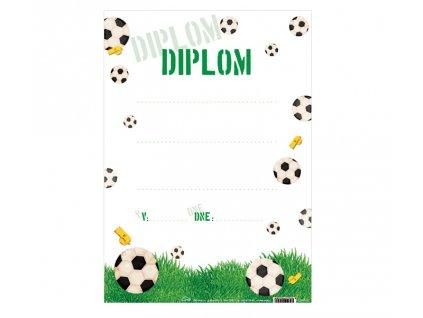 Diplom A4 - FOTBAL, s textem