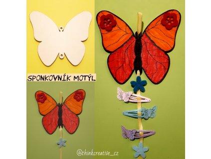 Motýl závěs (14 cm) - dřevěný výřez