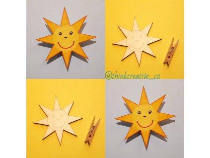 Sluníčko předkreslené  (9 cm) - dřevěný výřez