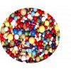 Korálky dřevěné - barevný mix