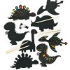 Scratch Art Dinosaur Magnets EV254 21