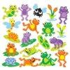 Veselé žabky samolepky Think Creative