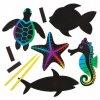 Mořský svět vyškrabávací (12 ks)
