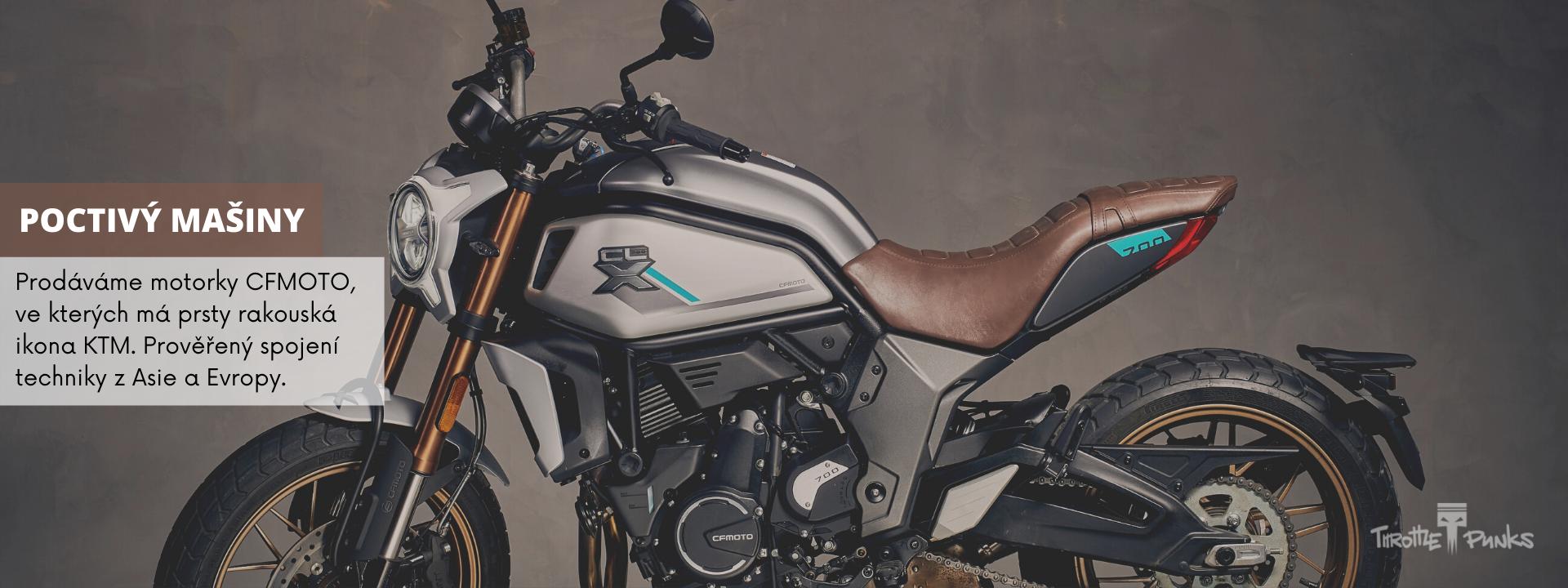 Nabídka motocyklů CFMOTO v Throttle Punks