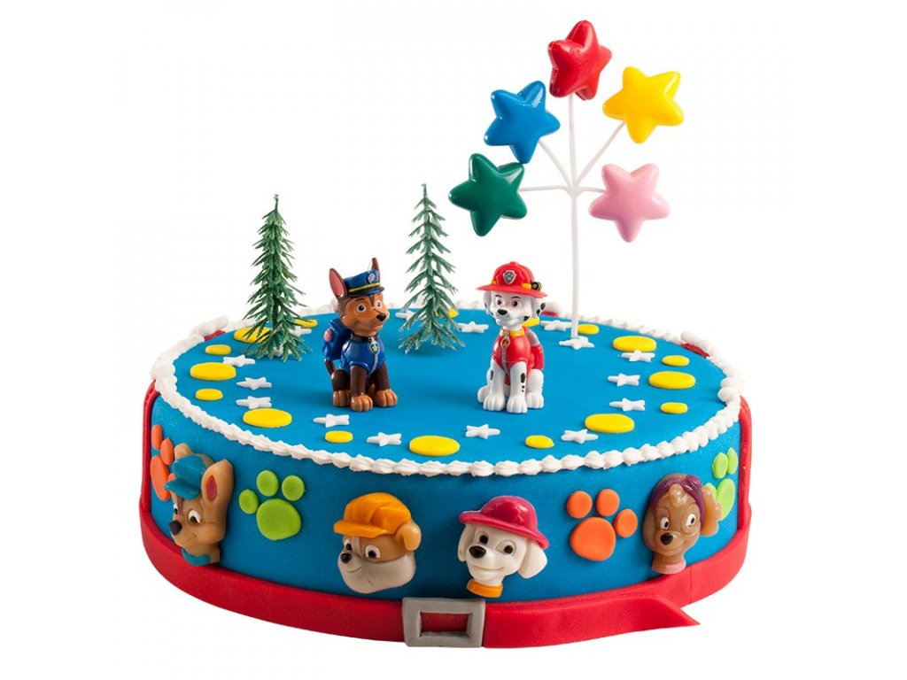 Sada figurek na dort - Tlapková Patrola - 2 pejsci