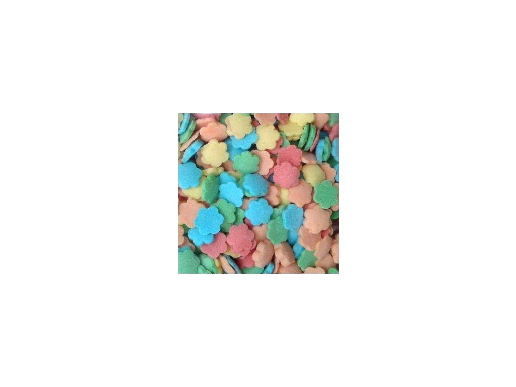Cukrový posyp - barevné kytičky - balení 250g