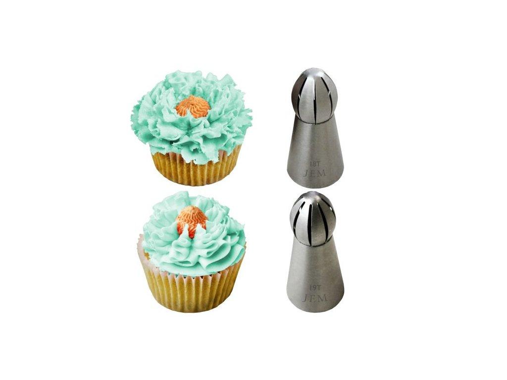 Špičky na cupcakes JEM 2 ks - typ 18+19