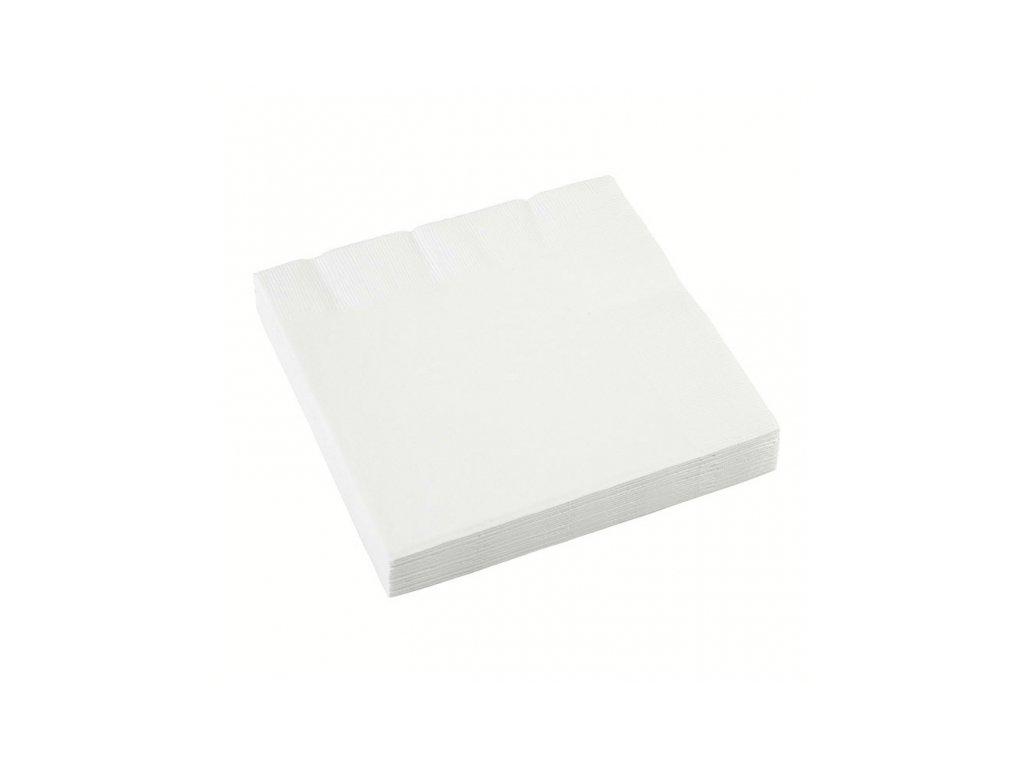 Ubrousky 20 ks - bílé