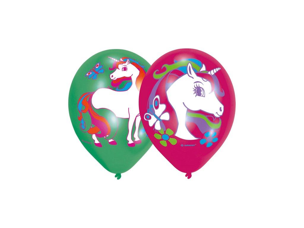 Balónky 6 ks extra - Jednorožec