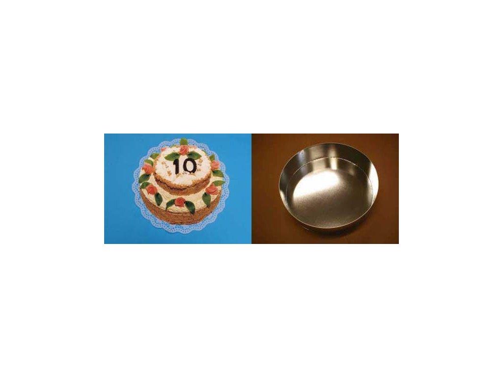 Dortová forma kruh 22 cm - K2210