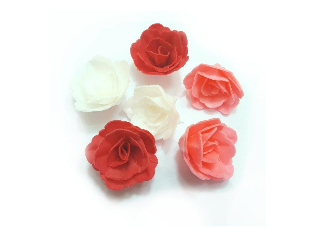 Dortové růže 6 ks mix barev