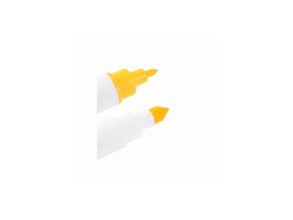 Potravinářský fix 2 hroty - žlutý
