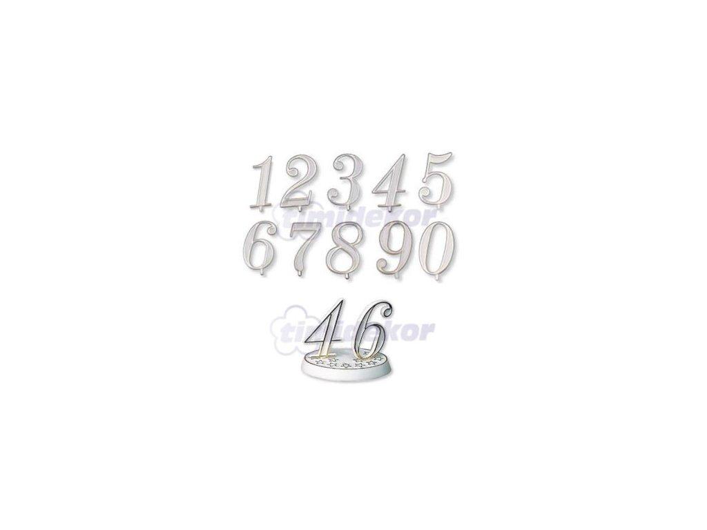 Číslice plastová - 7 - 10 ks