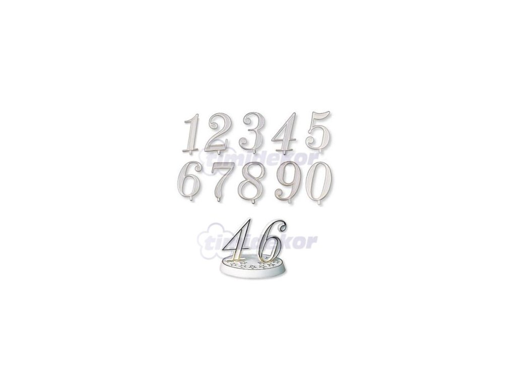 Číslice plastová - 9 - 10 ks