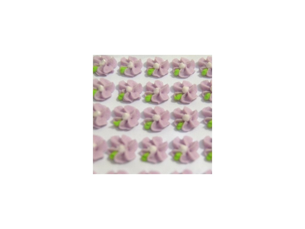 Cukrové ozdoby Timidekor - kytičky fialové