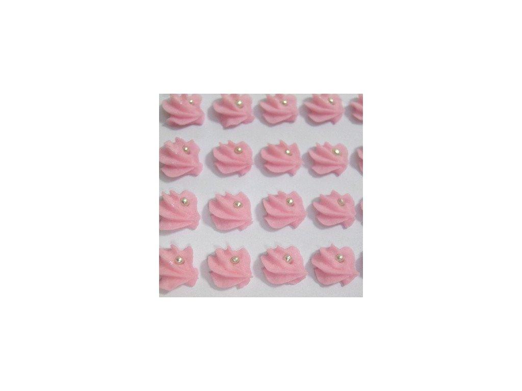 Cukrové ozdoby Timidekor - vějířky růžové