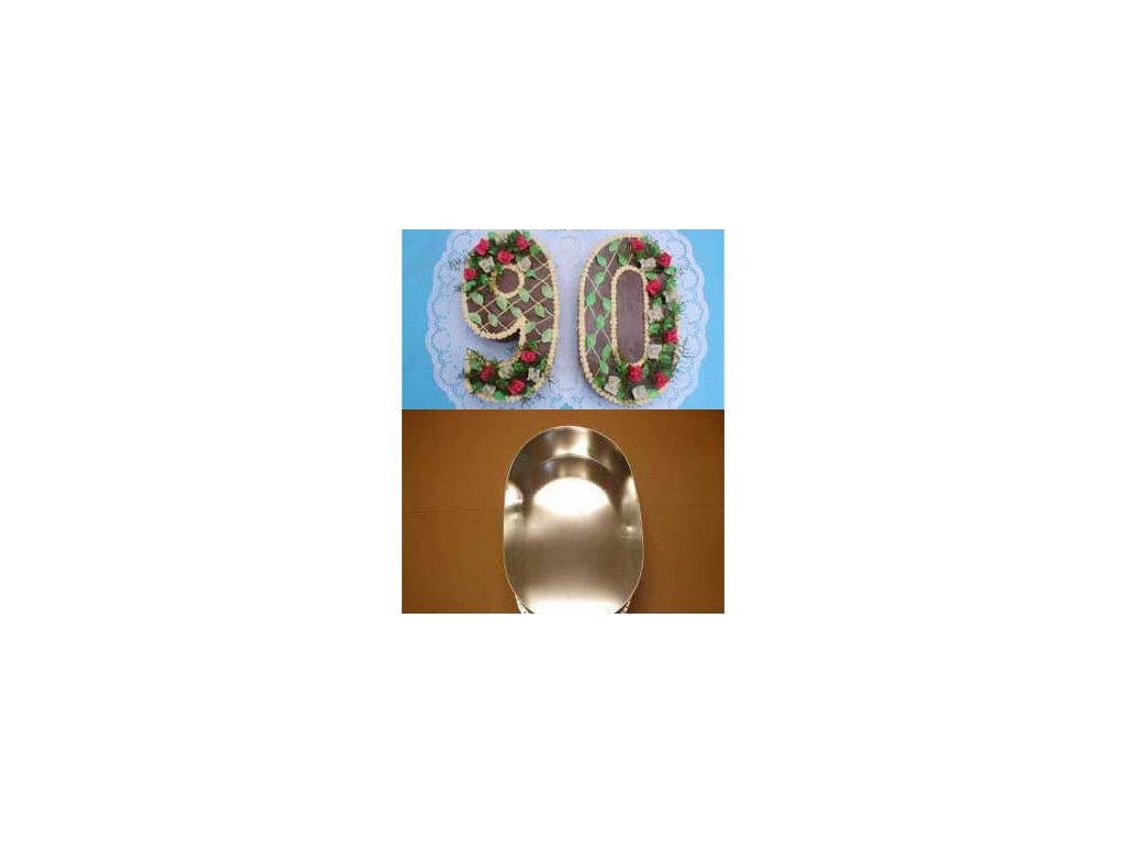Dortová forma ve tvaru čísla - 0